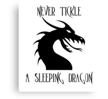 Tickle A Dragon Canvas Print