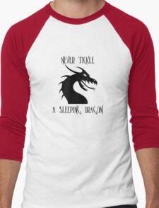 Tickle A Dragon Men's Baseball ¾ T-Shirt