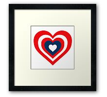 Captain America Heart Shield Framed Print