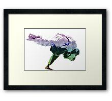 Judo Throw in Gi 2 Multicolour  Framed Print
