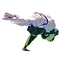 Judo Throw in Gi 2 Multicolour  Photographic Print