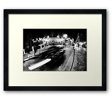 Night Cityscape Cars and lights - Italy Framed Print