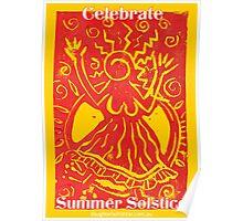 Celebrate Summer Solstice poster Poster