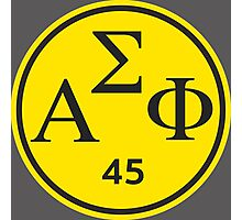 Alpha Sigma Phi- Dortmund Logo 1845 Photographic Print
