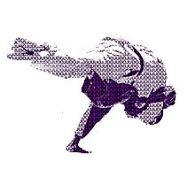 Judo Throw in Gi 2 Purple  Photographic Print