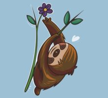 Sloth And Flower Kids Clothes