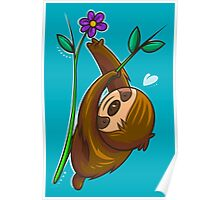 Sloth And Flower Poster