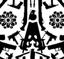 Gun Skull Sticker
