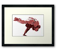 Judo Throw in Gi 2 Red Framed Print