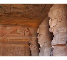 Inside the Great Temple of Ramses II at Abu Simbel Photographic Print