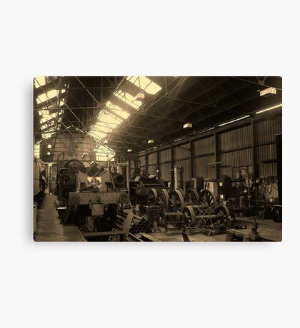Loughborough Engine Shed Canvas Print