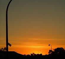 Suburban sunset by Stacey Pritchard