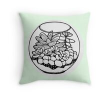 Fred the Succulent Throw Pillow