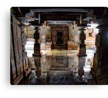 Sunken symmetrical reflection Canvas Print