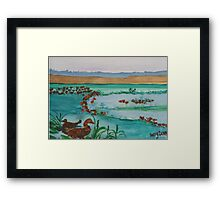 Whistling Ducks Framed Print