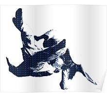 Judo Throw in Gi 3 Blue  Poster