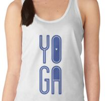YOGA - Blue on White Women's Tank Top