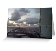 On deck Greeting Card