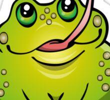 Froggy Catching Dinner Sticker