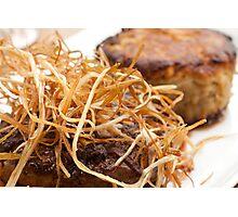 Steak with Leek Hay Photographic Print