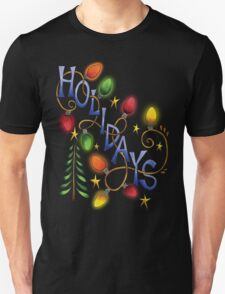 Holidays - Holiday T-Shirt With Tree Lights T-Shirt
