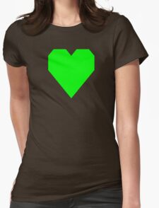 Electric Green Womens Fitted T-Shirt