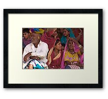 Tradition and Colors of Rajasthan Framed Print