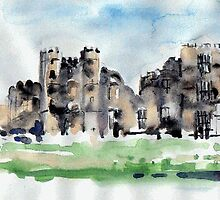 Cowdray Castle - Watercolour by Lynn Ede by Lynn Ede