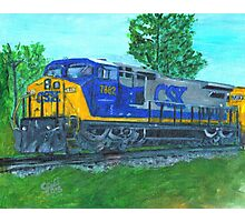 CSXtrain. locomotive, diesel Photographic Print