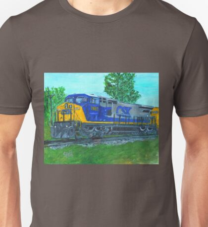 CSXtrain. locomotive, diesel Unisex T-Shirt