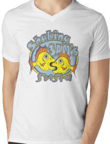Shaking SAM's Sushi Mens V-Neck T-Shirt