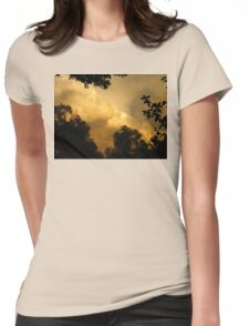 stormy sunset Womens Fitted T-Shirt