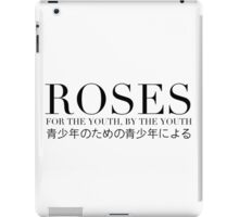 ROSES - OG #1 BOX LOGO (WHITE/BLACK TEXT) iPad Case/Skin