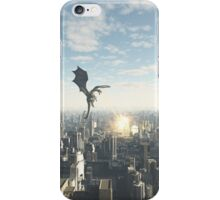 Dragon Attacking a Future City iPhone Case/Skin