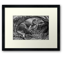 Double Arches Framed Print