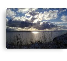 Snowstorm out to sea Canvas Print
