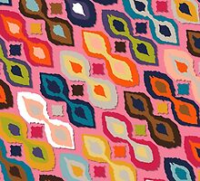 carnival ikat pink by Sharon Turner