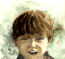 Sunshine Boy - Watercolour by Lynn Ede by Lynn Ede