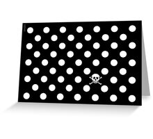 BLACK & WHITE POLKA DOT SKULL Greeting Card