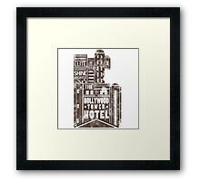 Tower of Terror  (distressed edition) Framed Print