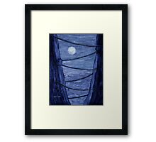 Wired - watercolor painting Framed Print