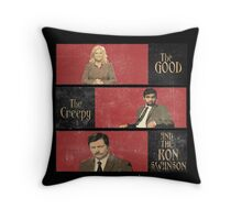The Good...The Creepy..AND THE RON SWANSON Throw Pillow