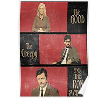 The Good...The Creepy..AND THE RON SWANSON Poster