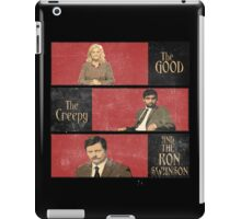 The Good...The Creepy..AND THE RON SWANSON iPad Case/Skin