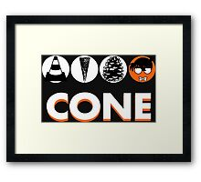 Cone: Black Orange Flavour Framed Print