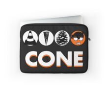 Cone: Black Orange Flavour Laptop Sleeve