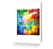 Prismatic Abstract Greeting Card