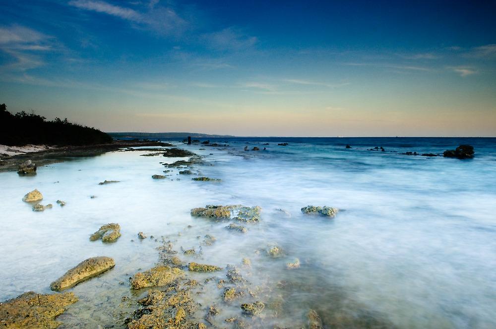 White ocean - Sunset in Bonaire by Kathy White