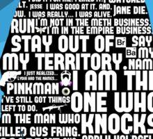 Walter White Quotes Sticker
