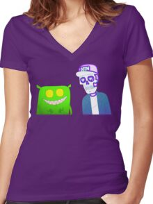 Feed Me & Kill The Noise Women's Fitted V-Neck T-Shirt